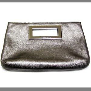 Berkeley Gunmetal Leather Clutch